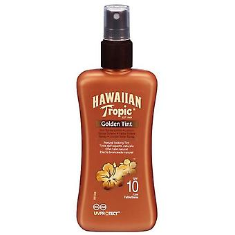 Hawaiian Tropic Golden Tin Pump Spf10 200Ml