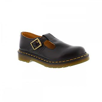 Dr Martens Polley T Bar - Black Smooth Womens Shoes