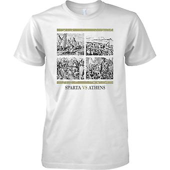 Sparta Vs Athens - Ancient Rivals  - Mens T Shirt