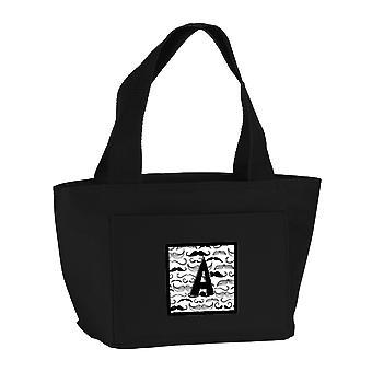 Carolines Treasures  CJ2009-ABK-8808 Letter A Moustache Initial Lunch Bag