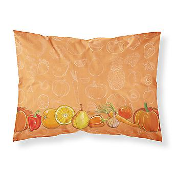 Fruits and Vegetables in Orange Fabric Standard Pillowcase