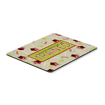 My Dog's not spoiled I'm just well trained Mouse Pad, Hot Pad or Trivet
