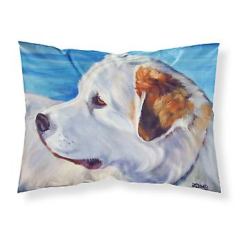 Great Pyrenees at the Beach Fabric Standard Pillowcase