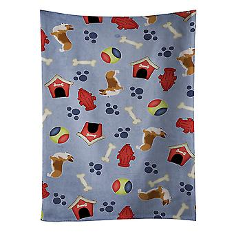 Carolines Treasures  BB3920KTWL Corgi Dog House Collection Kitchen Towel