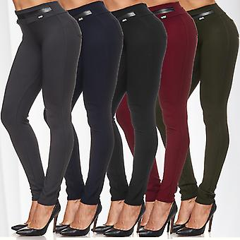 Dam stretch Treggings skinnbyxor av stretch låg midja Jeggings