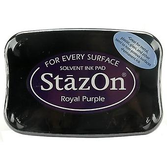 StazOn Solvent Ink Pad-Royal Purple SZ-101