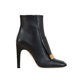 Sergio Rossi women's A78931MNAN071000 black leather ankle boots