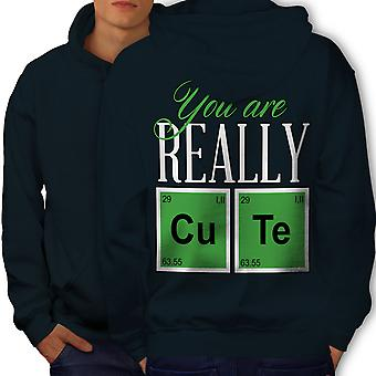 Cute Chemistry Geek Men NavyHoodie Back | Wellcoda