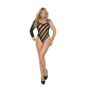 Elegant Moments  EM-1359Q Crotchless sheer burnout teddy