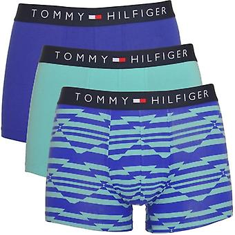 Tommy Hilfiger Icon 3-Pack Trunk, Stillwater / Clematis Blue / Stillwater, X-Large
