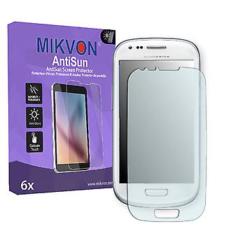 Samsung Galaxy S3 Mini Value Edition (I8200) Screen Protector - Mikvon AntiSun (Retail Package with accessories)