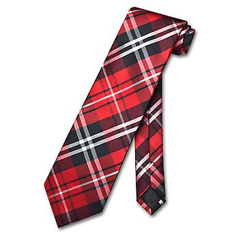 Vesuvio Napoli NeckTie PLAID Design Men's Neck Tie