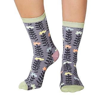 Lore women's super-soft bamboo crew socks in pebble | By Thought