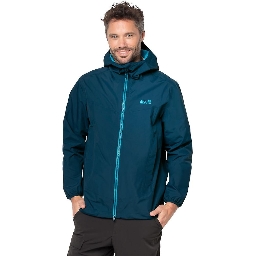 Jack Wolfskin Mens Colourburst Waterproof Texapore Lightweight Jacket