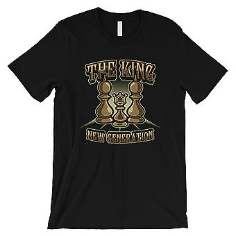 The King New Gen Mens Black Vintage Design Chess Lover T-Shirt Gift