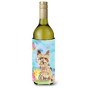 Easter Eggs Yorkie Yorkshire Terrier Wine Bottle Beverge Insulator Hugger