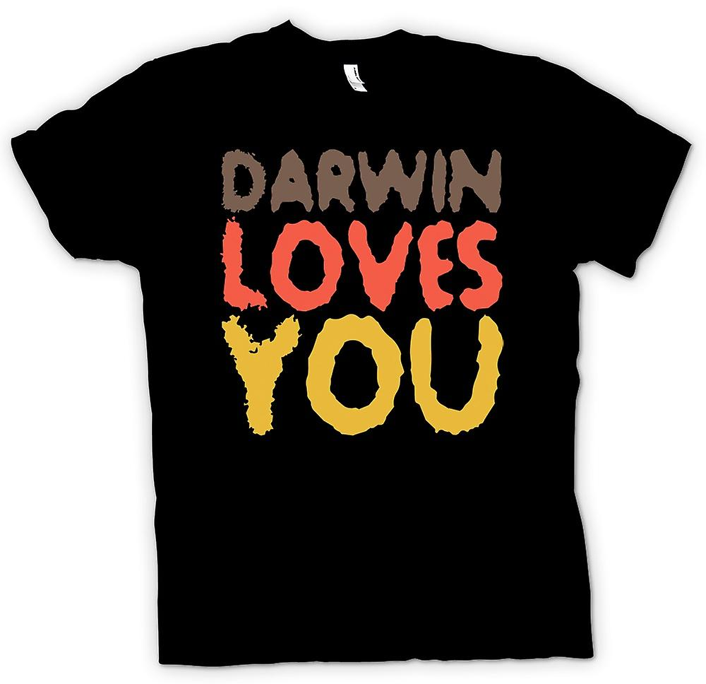 Mens T-shirt - Darwin Loves You - Quote