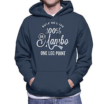 Mambo Surf Deluxe One Leg Point Blue Men's Hooded Sweatshirt