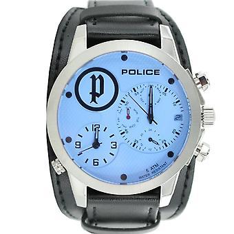 Politie mens watch polshorloge lederen analoge PL. 14188JS/04