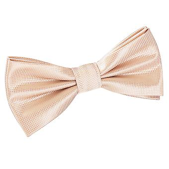 Champagne Solid Check Pre-Tied Bow Tie