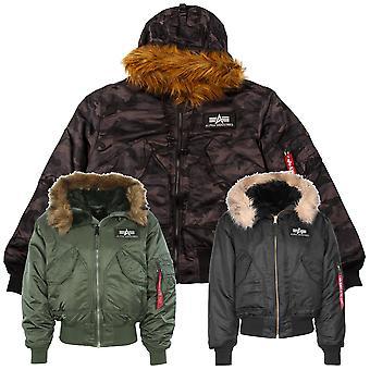 Industrias alfa chaqueta de 45 P con capucha