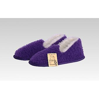 Moccasin wool purple 36/37