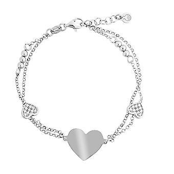 Orphelia Silver 925 Bracelet 2 line Zirconium 17+1.5 cm  ZA-7384