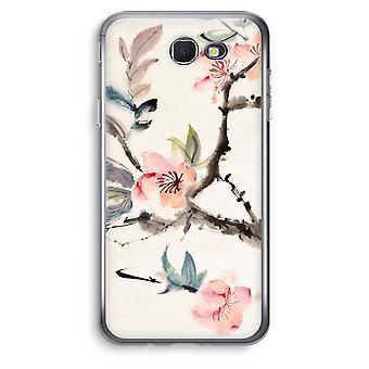 Samsung Galaxy J5 Prime (2017) Transparent Case (Soft) - Japenese flowers