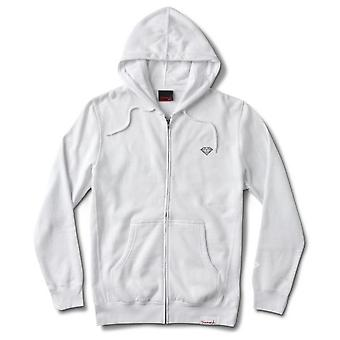 Diamond Supply Co Micro Brilliant Zip Hoodie White
