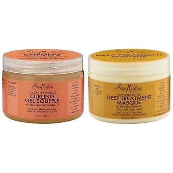 Shea Moisture Coconut Curl Smoothie & Shea Moisture Raw Shea Butter Deep Treatment Masque 12oz