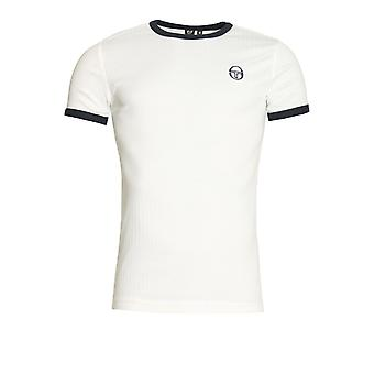 SERGIO TACCHINI Drop Crew Neck T-Shirt   White/Navy