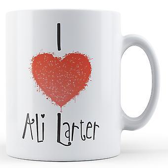 Dekorative skriver jeg elsker Ali Larter trykt krus