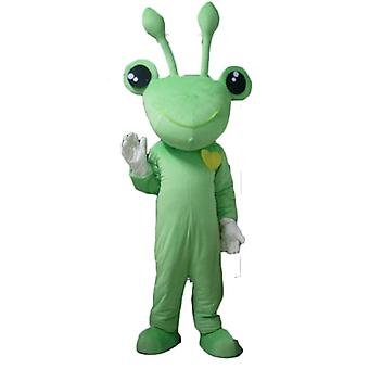 mascot frog green, very funny, with antennas SPOTSOUND