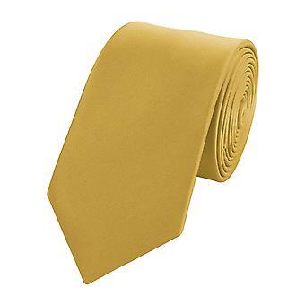 Schlips Krawatte Krawatten Binder Schmal 6cm gold von Fabio Farini