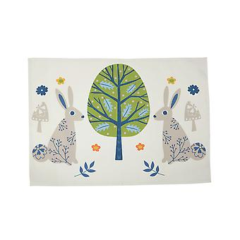 Dexam Tea Towel, Woodland Rabbits