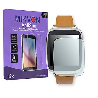 Asus ZenWatch (WI500Q) Screen Protector - Mikvon AntiSun (Retail Package with accessories) (reduced foil)
