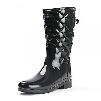 Hunter Hunter Refined Gloss Quilted Short Womens Boot