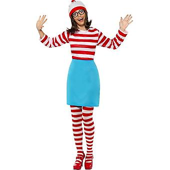 Where's Wally? Wenda Costume, UK Dress 4-6