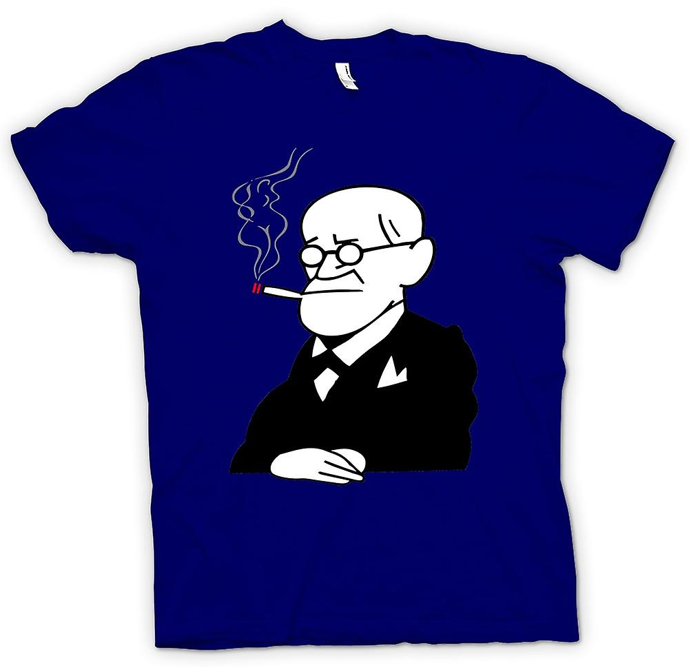Mens T-shirt - Sigmund Freud - psychologie - Cartoon