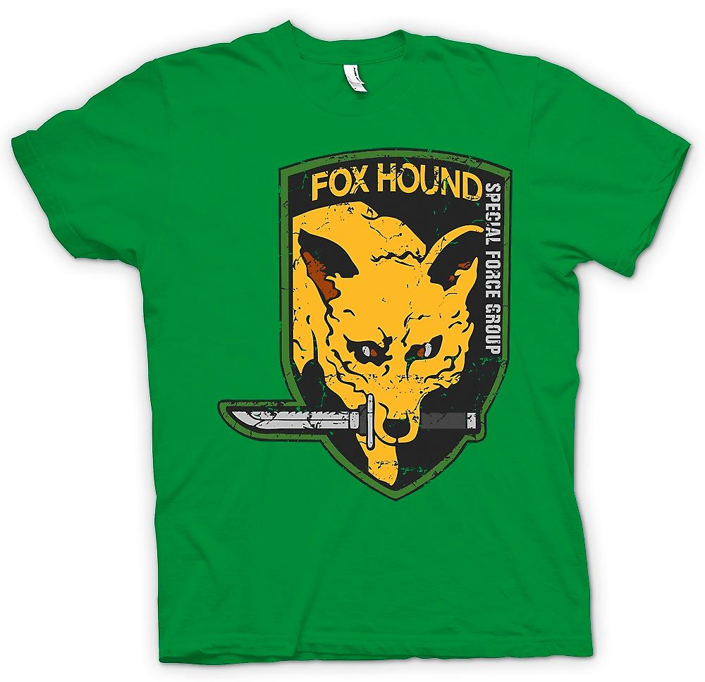 Herr T-shirt - räv hund - Special Forces Group - Gamer