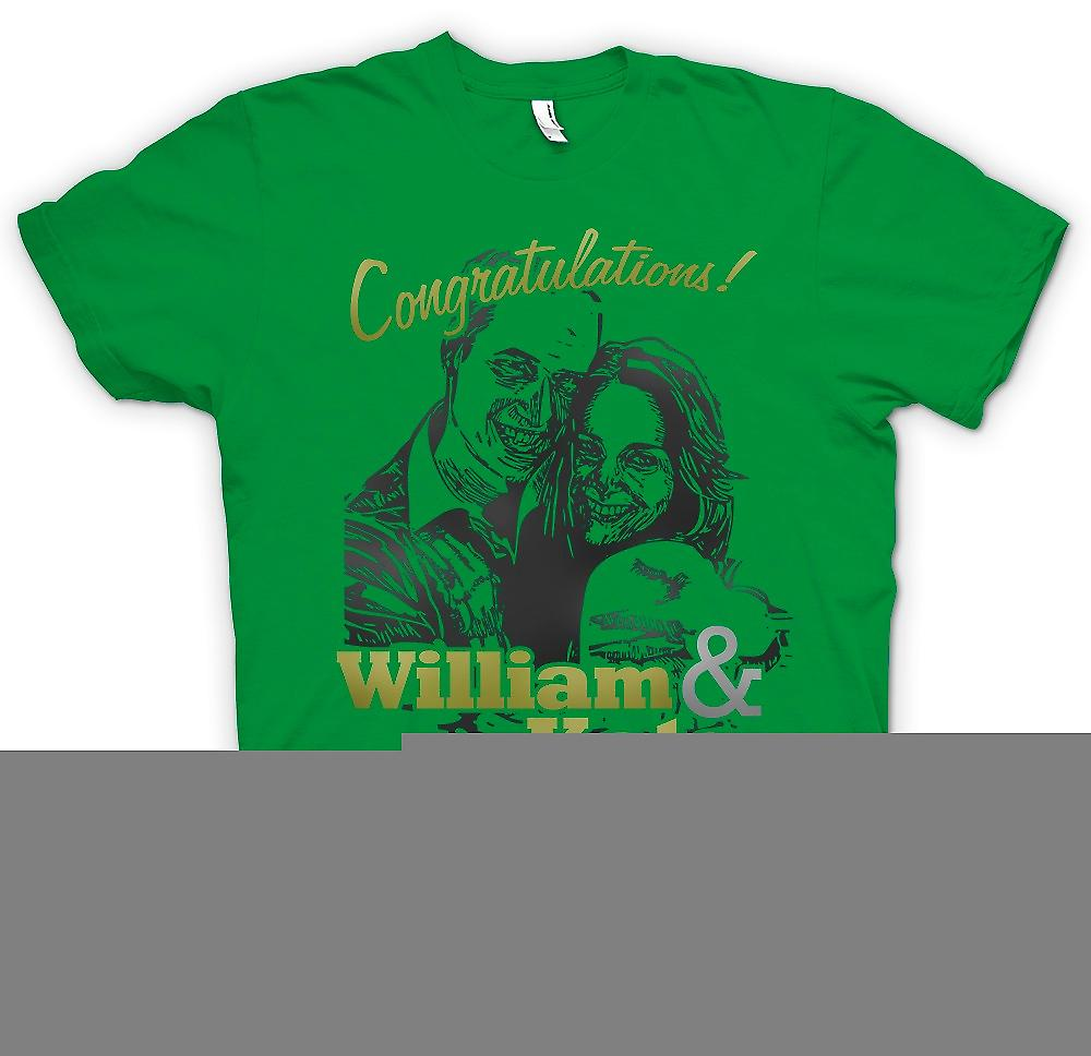 Mens T-shirt-wir gratulieren William und Kate