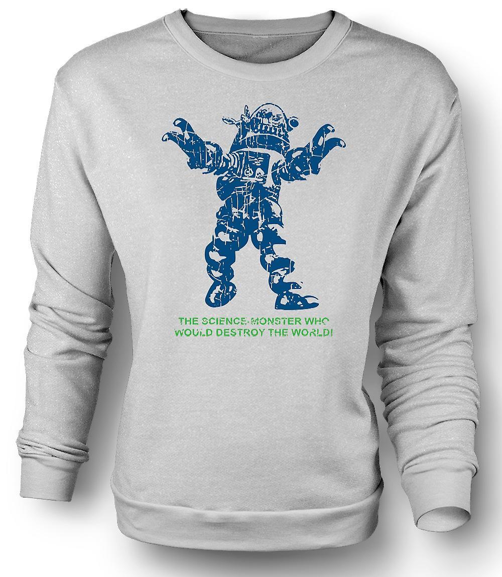 Mens Sweatshirt vetenskap Monster förstöra världen - Sci Fi