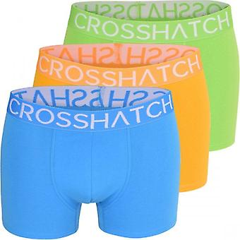 Crosshatch 3 Pack Mens Crosshatch Designer Boxer Shorts Boxers Underwear Bright Colours Trunks Gift Set