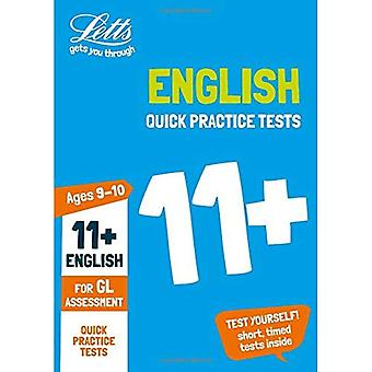 11 + anglais rapide pratique 9-10 ans des essais pour les essais d'évaluation de GL - Letts 11 + succès