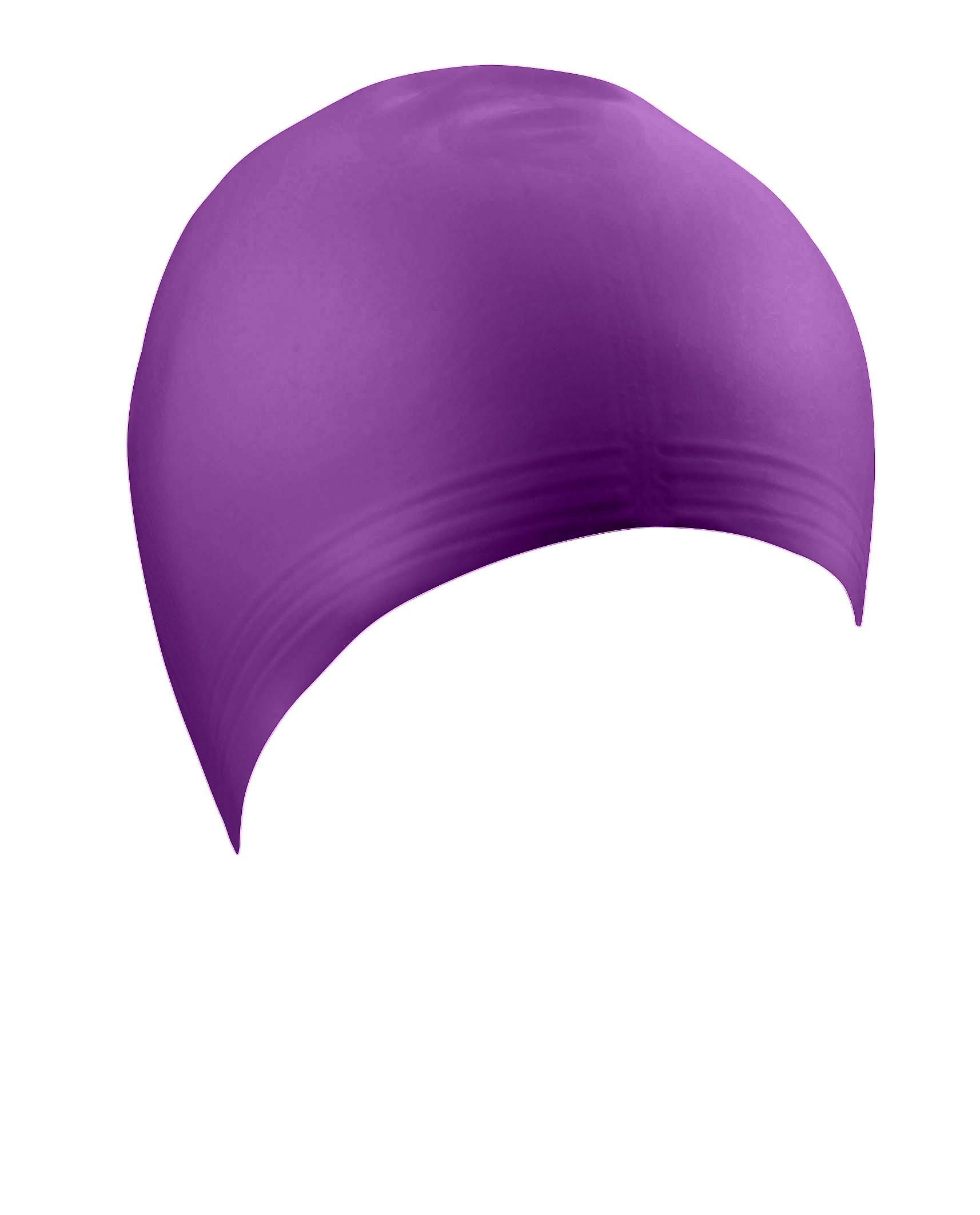 BECO Latex Adults Swimming Cap-Purple