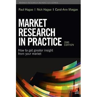Market Research in Practice How to Get Greater Insight from Your Market by Hague & Paul
