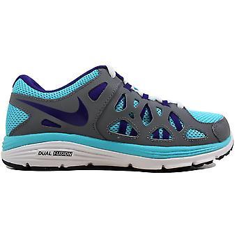 Nike Dual Fusion Run 2 Gamma Blue/Electric Purple-Cool Grey-White 599793-451 Grade-School