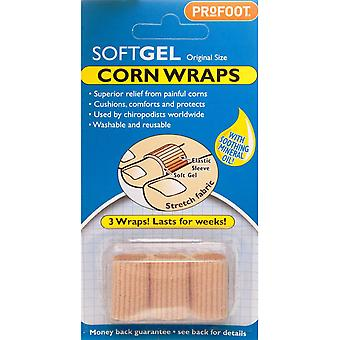 PROFOOT SOFTGEL CORN WRAPS 3 PACK