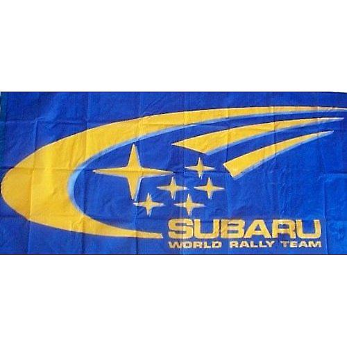 Large Subaru flag 1500mm x 900mm (blue-World Rally Team)  (of)