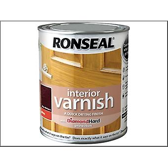 Ronseal Interior Varnish Quick Dry Gloss Deep Mahogany 750ml